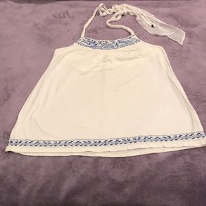 American Eagle Embroidered Halter